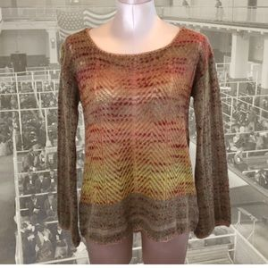 Free People Morning Bell Crochet Mohair Sweater